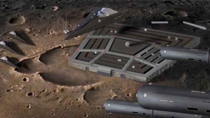 11 Dark Fleet Base On Moon